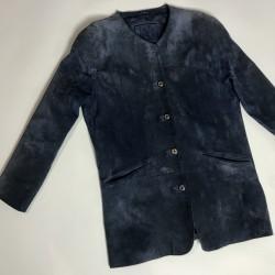 Zamszowy płaszcz r. 40